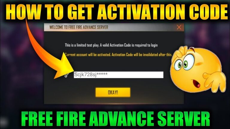 How To Get A Free Fire Activation Code For FF Advance Server?