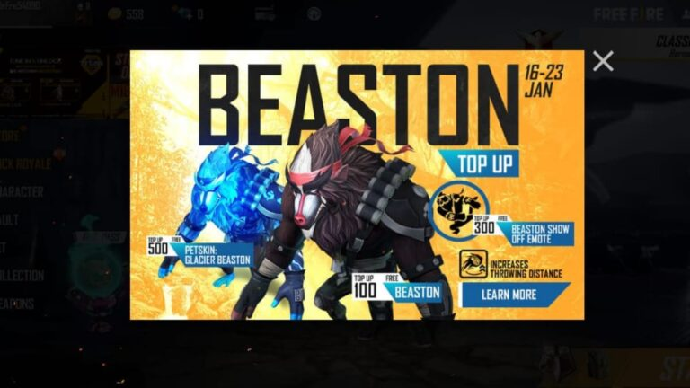 How to get Beaston pet in Free Fire using Top-Ups » FirstSportz