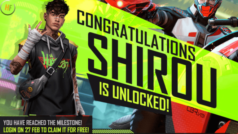 Free Fire will give players Shirou character for Free