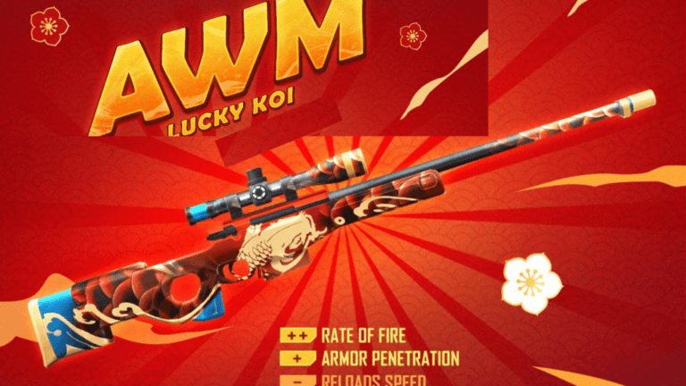 How to get Lucky Koi AWM skin from Weapon Royale in Free Fire