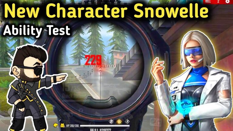 Snowelle Character : Free Fire New Character Snowelle Ability
