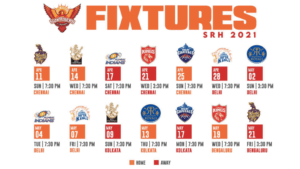 Sunrisers Hyderabad (SRH) IPL 2021 full schedule Update, squad, match timings, venues, and more