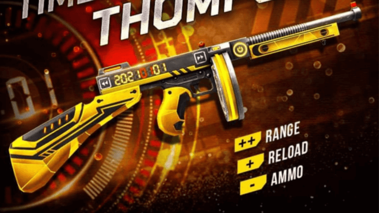 Steps to get Time Travellers Thompson Skin in Free Fire